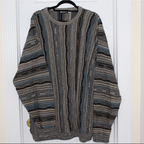 Vintage Sweaters Men Vtg Coogi Style Cosby Sweater Made In Usa Euc